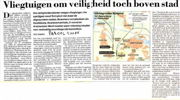 Vliegtuigen om veiligheid toch boven Amsterdam