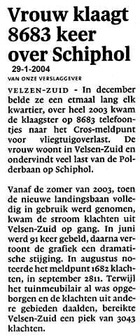Vrouw klaagt 8683 keer over Schiphol