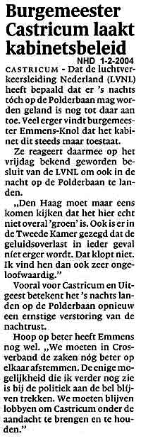 Burgemeester Castricum laakt kabinetsbeleid