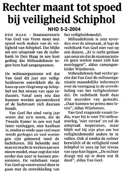 Rechter maant tot spoed bij veiligheid Schiphol