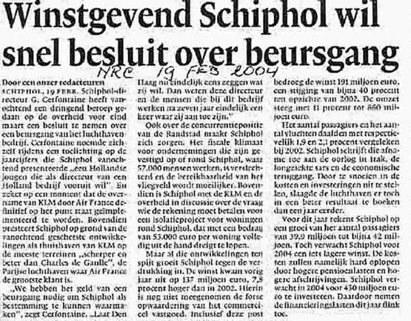 Winstgevend Schiphol wil beursgang
