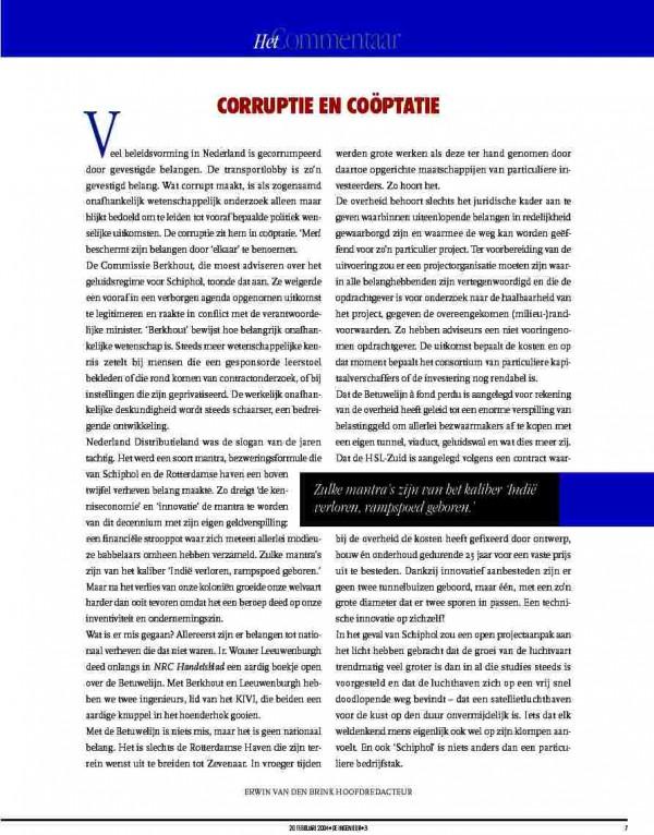 Corruptie en Coöptatie