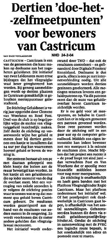 Dertien doe het zelfmeetpunten voor bewoners van Castricum
