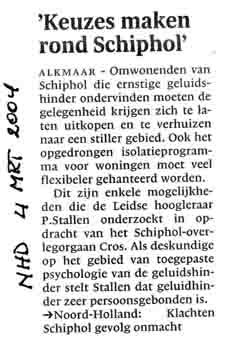 """Keuzes maken rond Schiphol"""