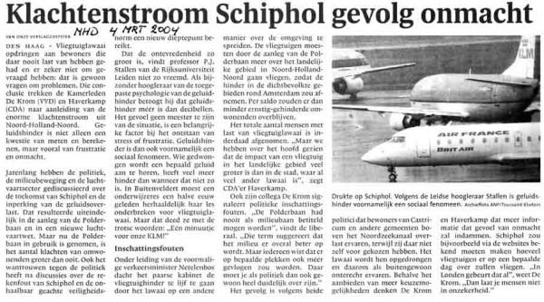 Klachtenstroom Schiphol gevolg onmacht