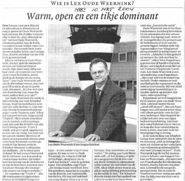 Wie is Lex Oude Weernink ?
