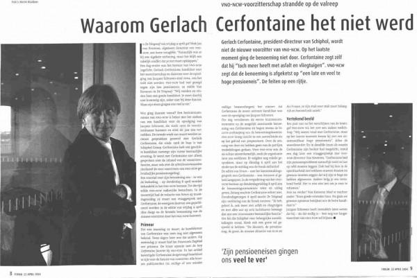 Waarom Gerlach Cerfontaine het niet werd