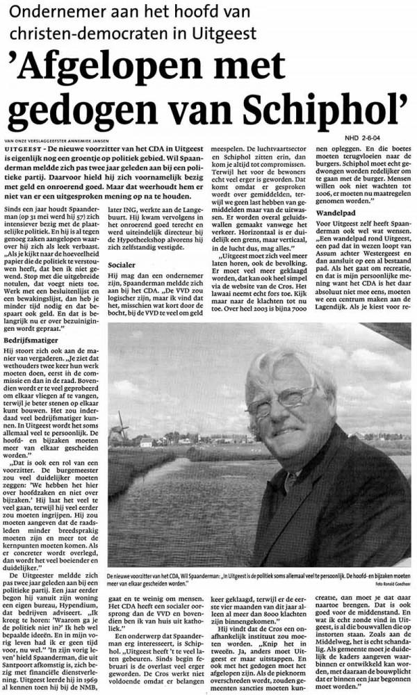 Afgelopen met gedogen van Schiphol