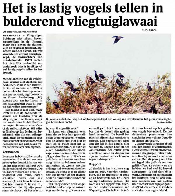 Het is lastig vogels te tellen in bulderend vlieglawaai