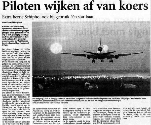 Extra herrie Schiphol ook bij gebruik één Startbaan