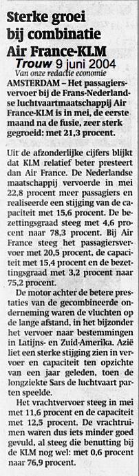 Sterke groei bij combinatie Air France-KLM