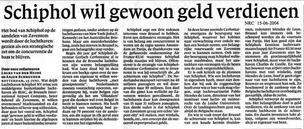 Schiphol wil gewoon geld verdienen