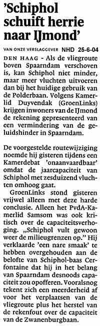 Schiphol schuift herrie naar IJmond