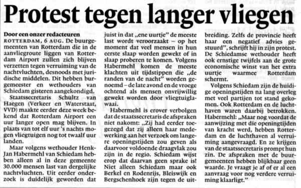 Protest tegen langer vliegen