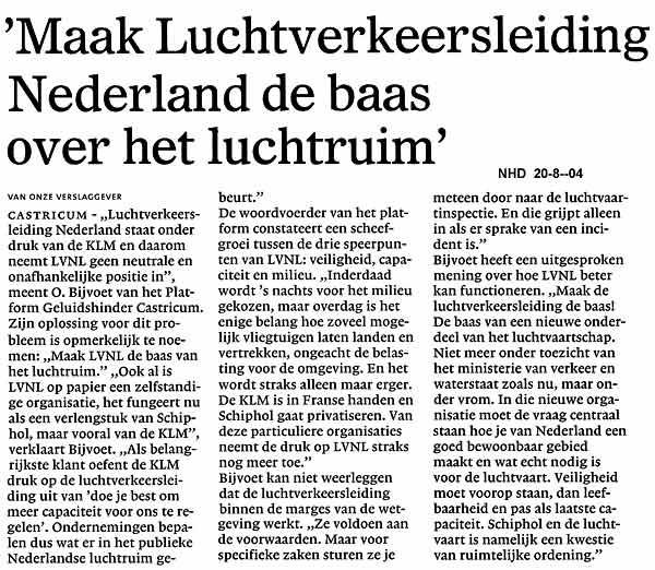 Maak Luchtverkeersleiding Nederland de baas over het luchtruim