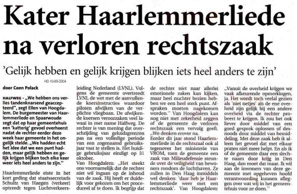 Kater Haarlemmerliede na verloren rechtszaak