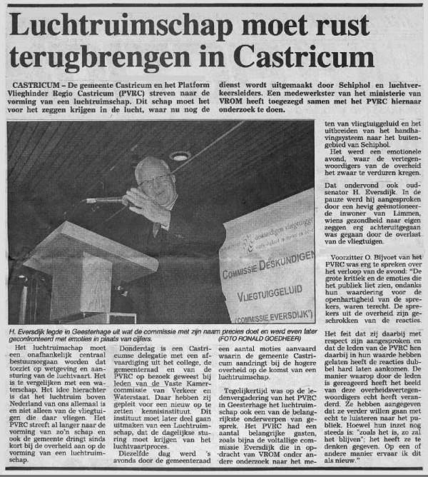 Luchtruimschap moet rust terugbrengen in Castricum