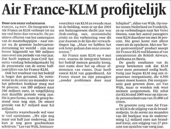 Air France-KLM profijtelijk