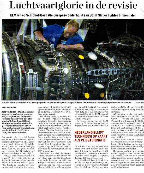 Luchtvaartglorie in de revisie