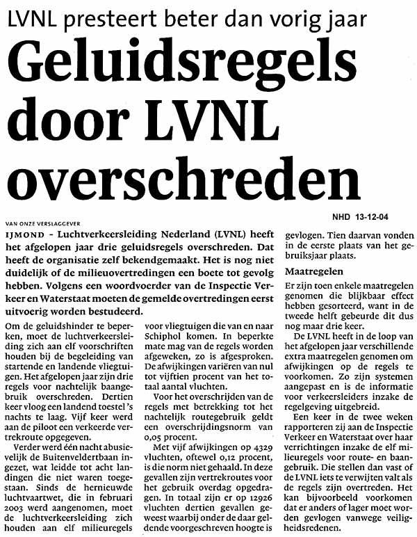 Geluidsregels door LVNL overschreden