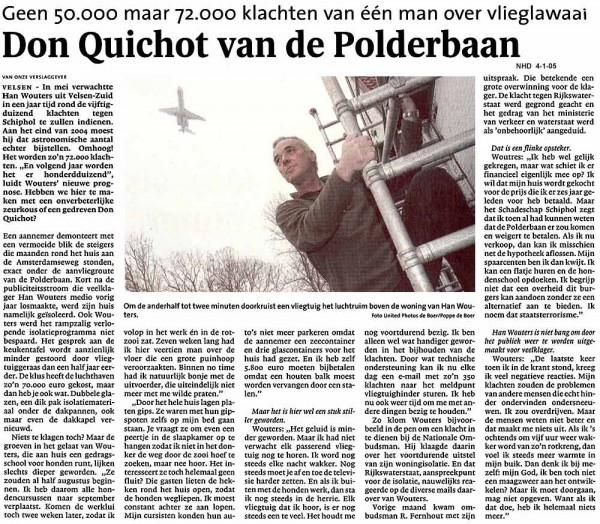 Don Quichot van de Polderbaan
