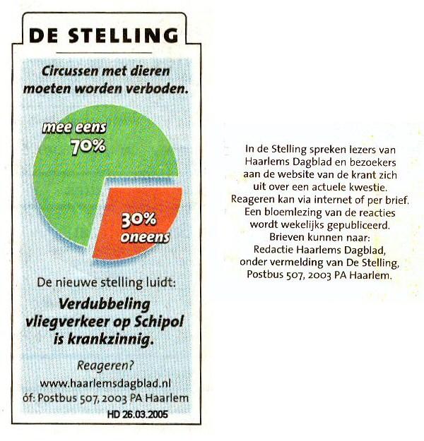 """De Stelling: """"Verdubbeling vliegverkeer op Schiphol is krankzinnig"""""""