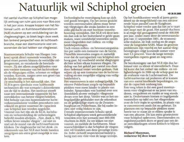Natuurlijk wil Schiphol groeien