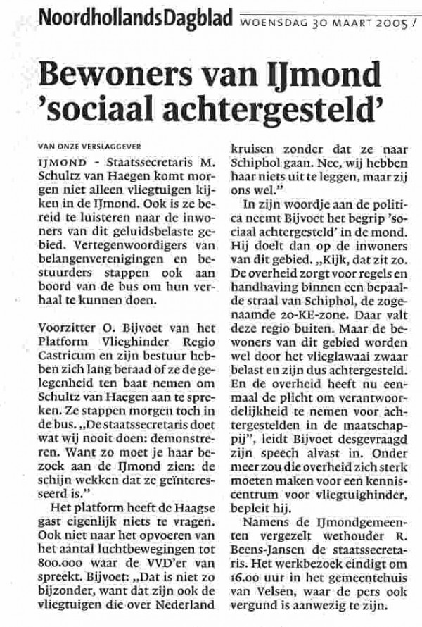 Bewoners IJmond 'sociaal achtergesteld'