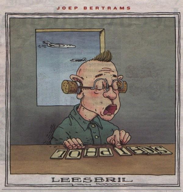 Cartoon Joep Bertrams.