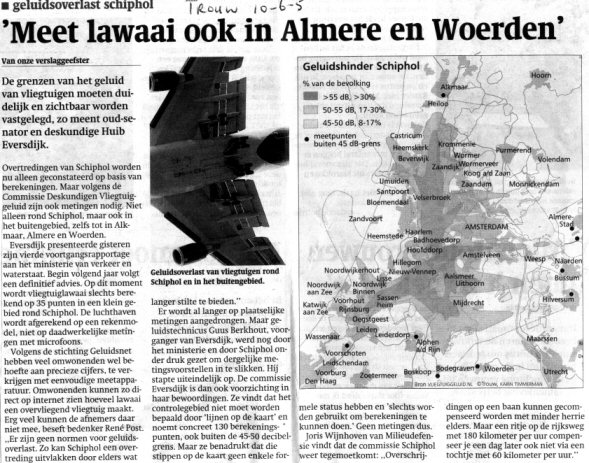 Meet lawaai ook in Almere en Woerden