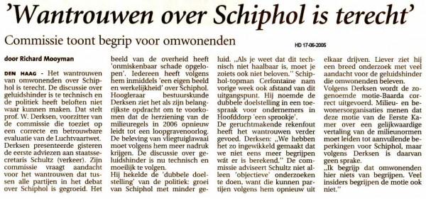 'Wantrouwen over Schiphol is terecht'