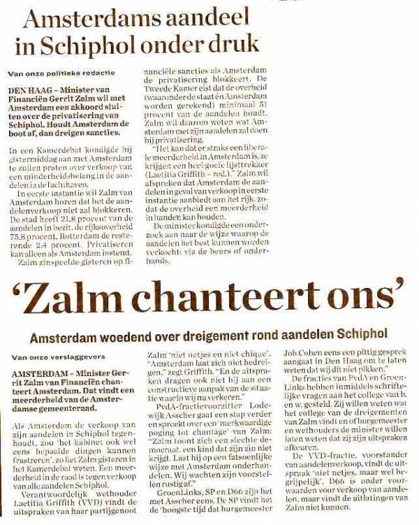 'Zalm chanteert ons'