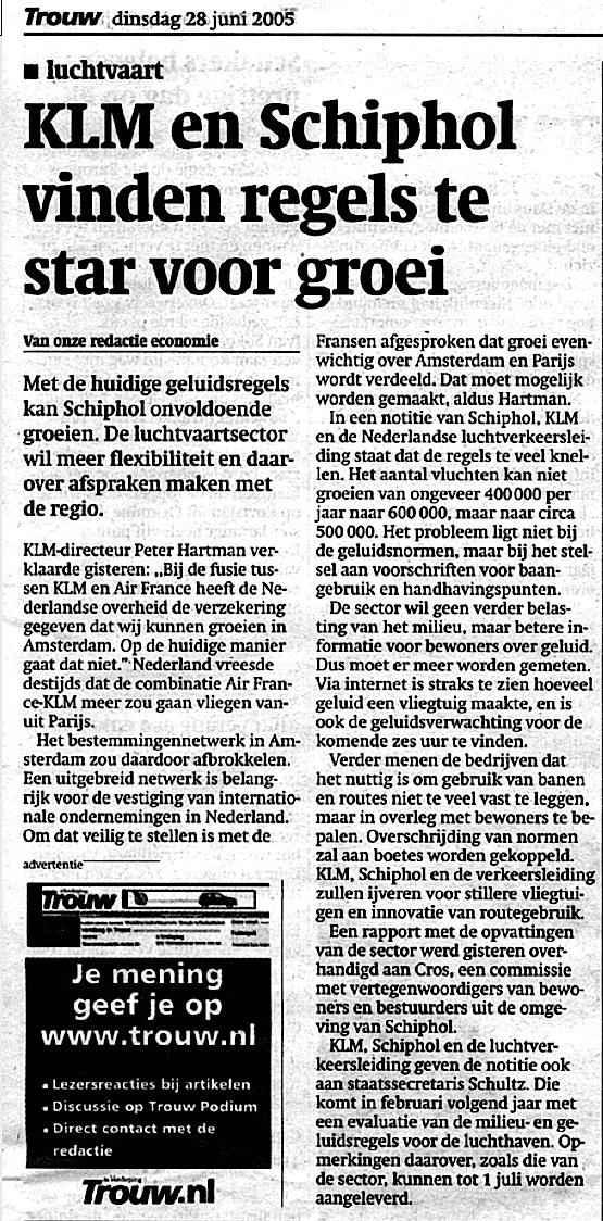KLM en Schiphol vinden regels te star voor groei