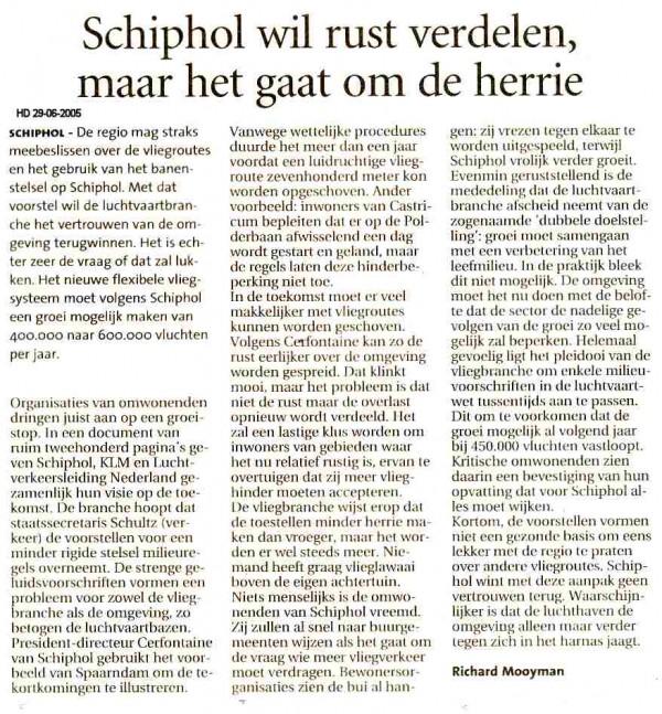 Schiphol wil rust verdelen, maar het gaat om de herrie