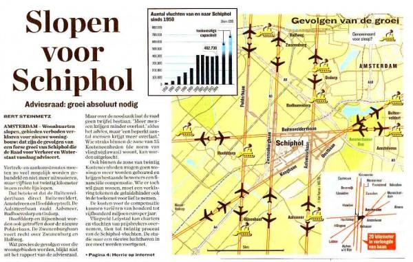 Slopen voor Schiphol