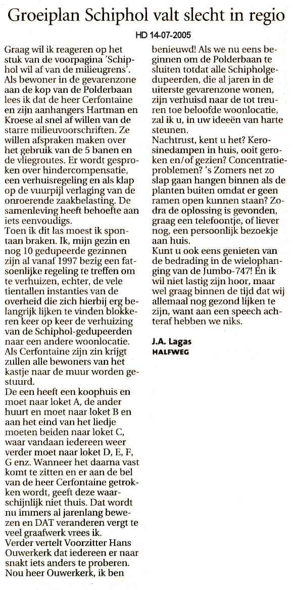 Groeiplan Schiphol valt slecht in regio