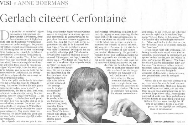 Gerlach citeert Cerfontaine