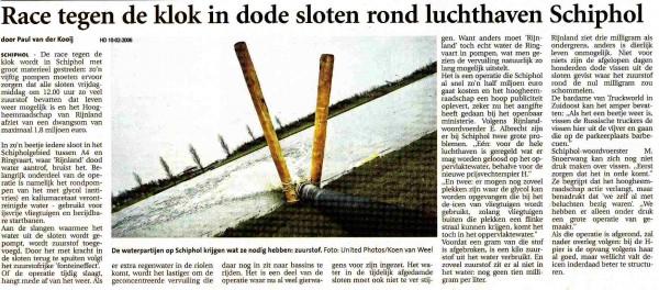 Race tegen de klok in dode sloten rond luchthaven Schiphol