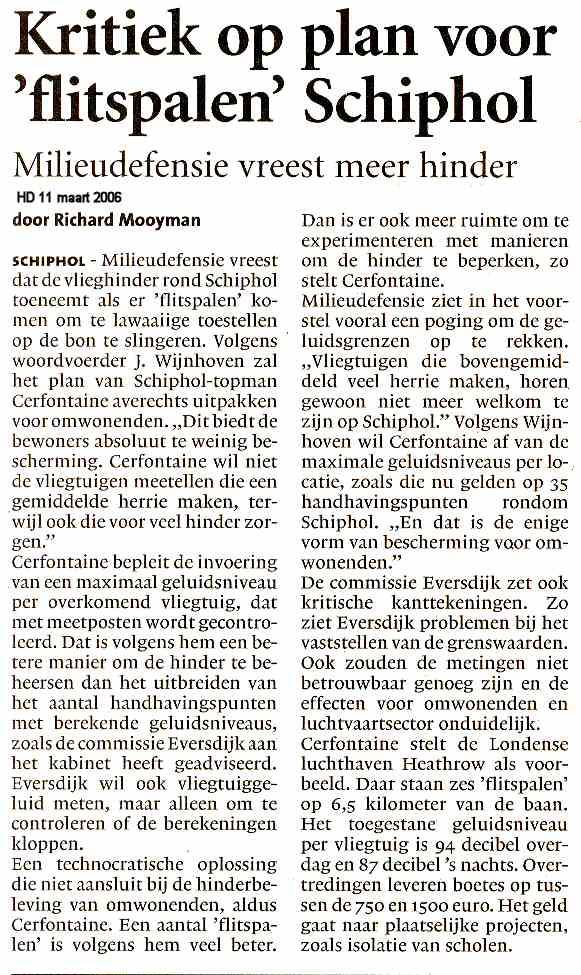 Kritiek op plan voor 'flitspalen' Schiphol