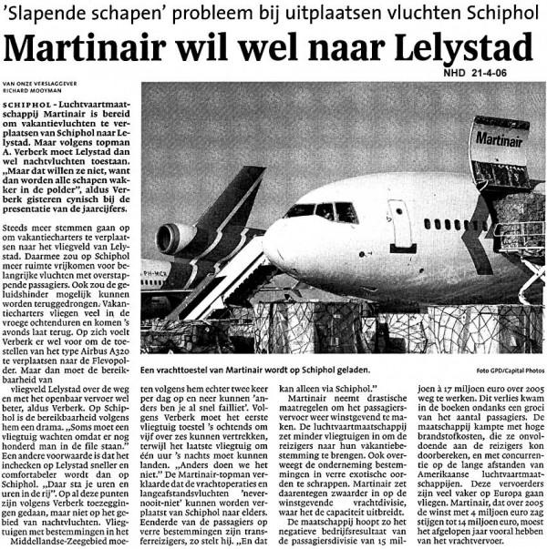 Martinair wil wel naar Leystad