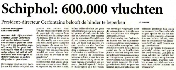 Schiphol:600.000 vluchten