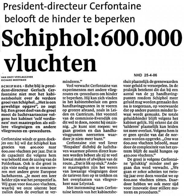 Schiphol: 600.000 vluchten