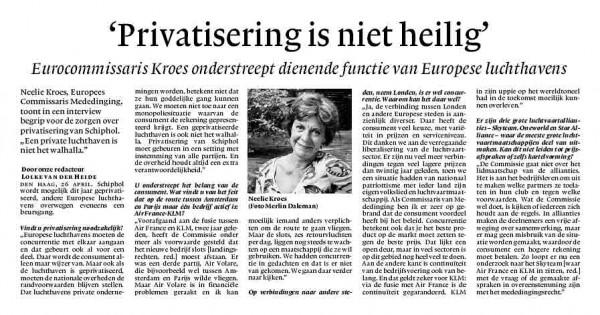 """""""Privatisering is niet heilig"""""""