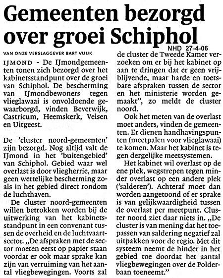 Gemeenten bezorgd over groei Schiphol