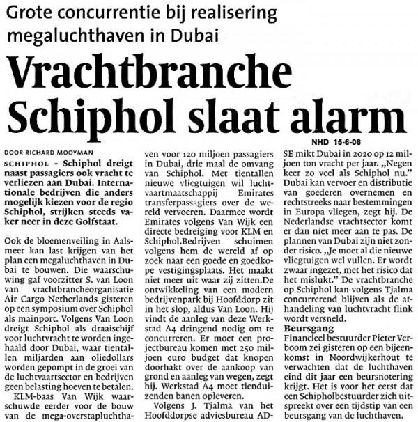 Vrachtbranche Schiphol slaat alarm
