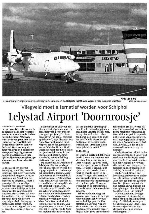 "Leystad Airport "" Doornroosje"""