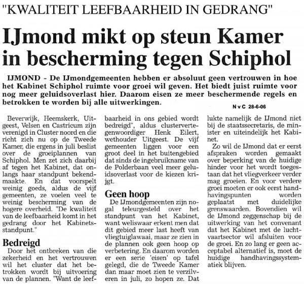 IJmond mikt op steun Kamer in bescherming tegen Schiphol