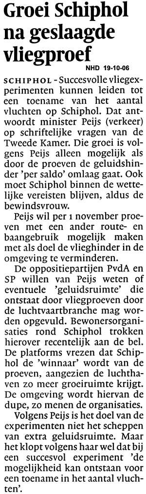 Groei Schiphol na geslaagde vliegproef