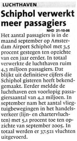 Schiphol verwerkt meer passagiers