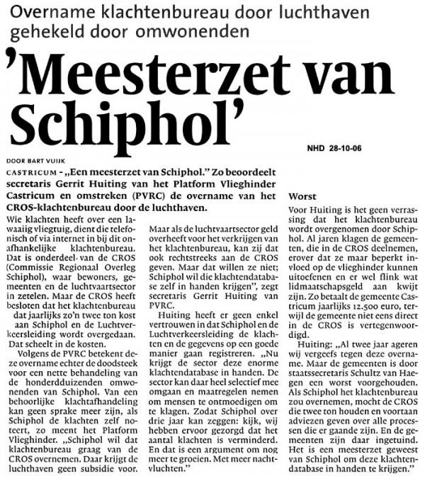 Meesterzet van Schiphol
